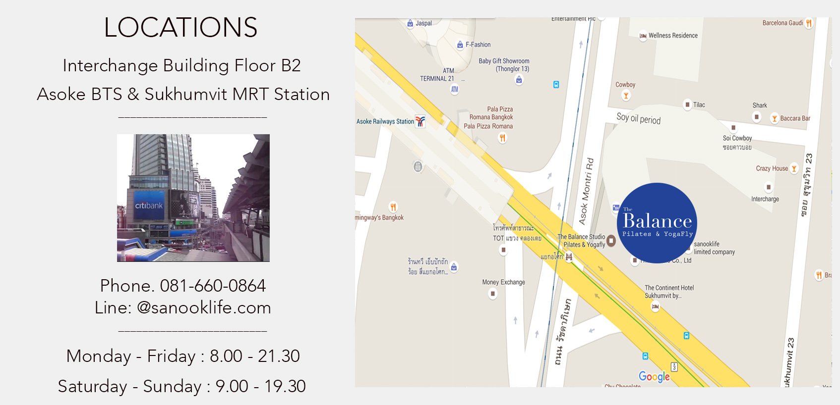 Location Pilates Bangkok