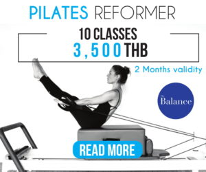pilates reformer promotion 10 classes 3500 baht